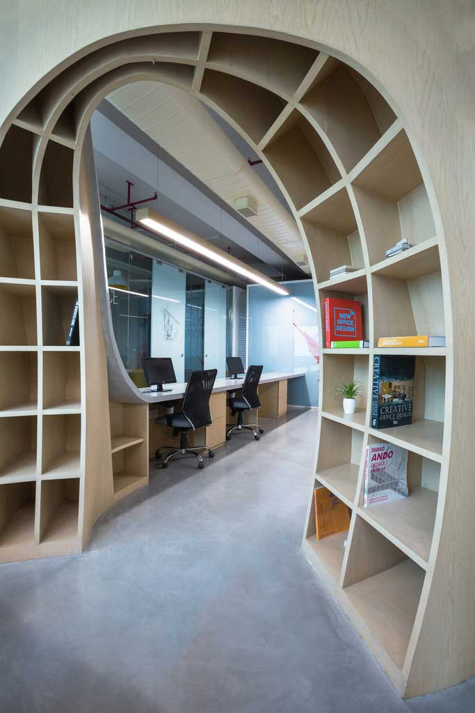 Libraries Can Make Designs For Office Space Look More Mature